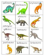 Tons of dinosaur printables: colors, puzzles, matching, letters, role-playing...