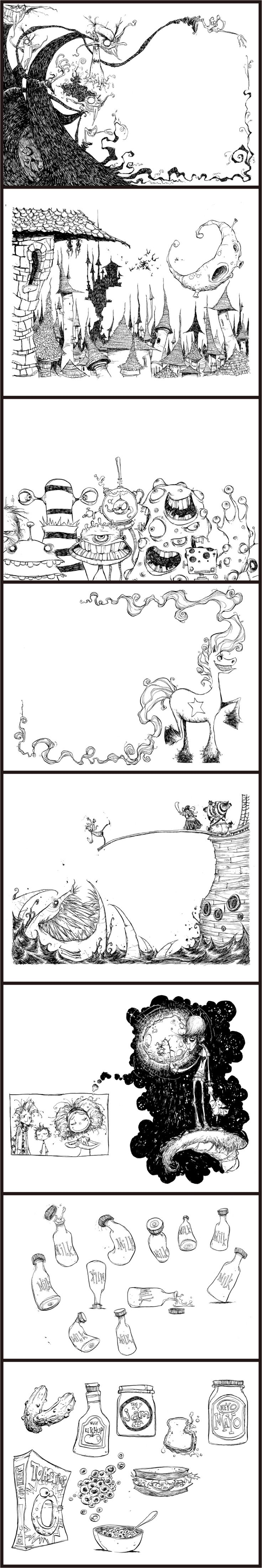 "Skottie Young: illustrations for Neil Gaiman's ""Fortunately The Milk"""
