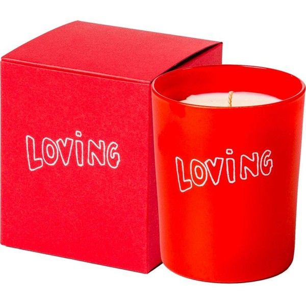 THE CONRAN SHOP Bella Freud loving candle 180g (£40) ❤ liked on Polyvore featuring home, home decor, candles & candleholders, red candles, scented candles, eclectic home decor, fragrance candles and red home decor