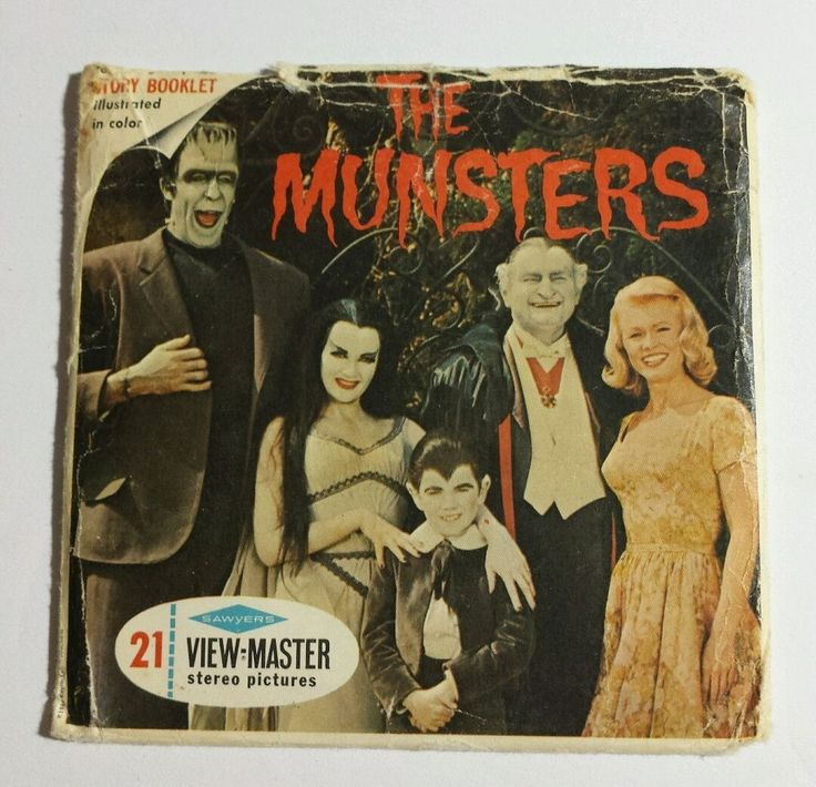 "1966 Sawyers View-Master ""THE MUNSTERS"" BIN £70"