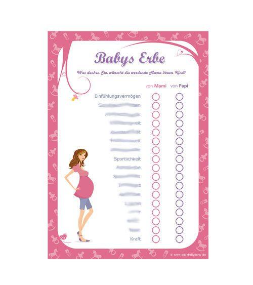 <p>Lustiges Babyparty-Spiel, bei dem die Gäste testen können, wie gut sie die Schwangere kennen.</p>