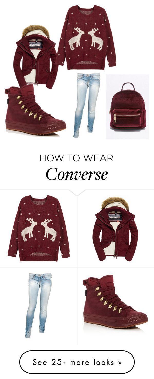 """""""Untitled #97"""" by dizdarevicnermina on Polyvore featuring Superdry, WithChic, Frankie B. and Converse"""