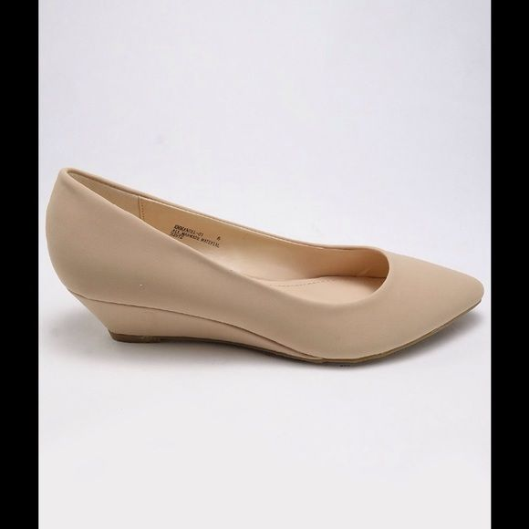 Nude low wedges Nude wedges flats! Very comfortable and professional. Shoes Flats & Loafers