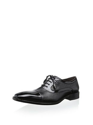 45% OFF Mezlan Men's Cap Toe Tie In Deer and Calf (Black)