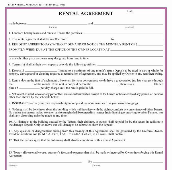 Basic Lease Agreement Template Lovely Free Printable Basic Rental Agreement Rental Agreement Templates Lease Agreement Free Printable Lease Agreement