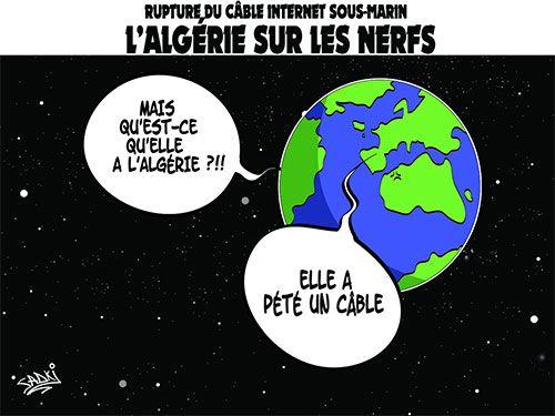 Sadki  (2015-10-28)  Rupture du câble internet sous-marin: L'Algérie sur les nerfs  | Presse-dz
