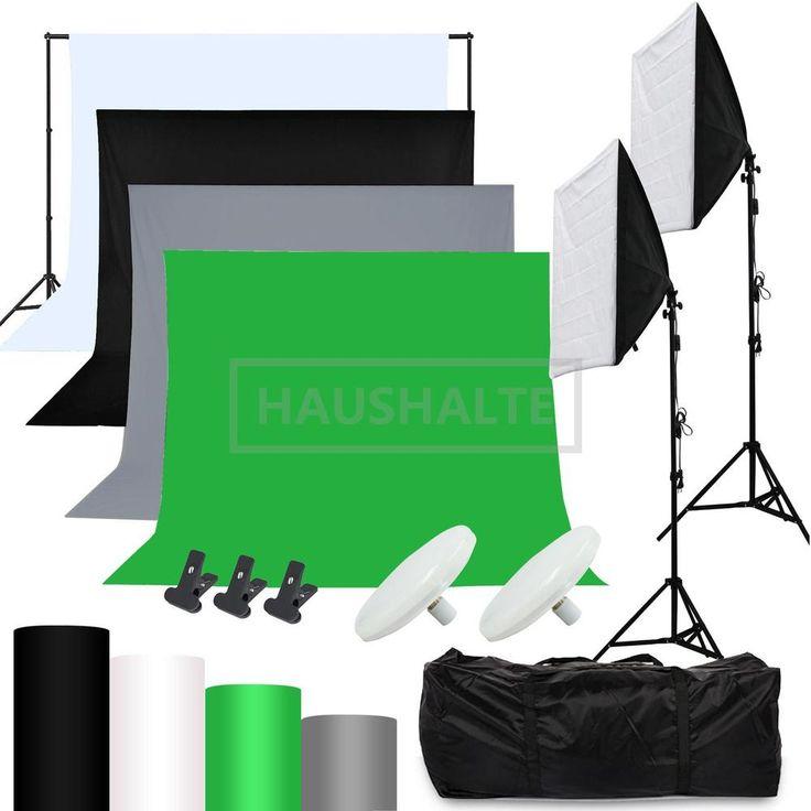 Hintergrundsystem Hintergrund Fotostudio Set Softboxenset Fotoleinwand Stoff In Foto Camcorder Zubehr