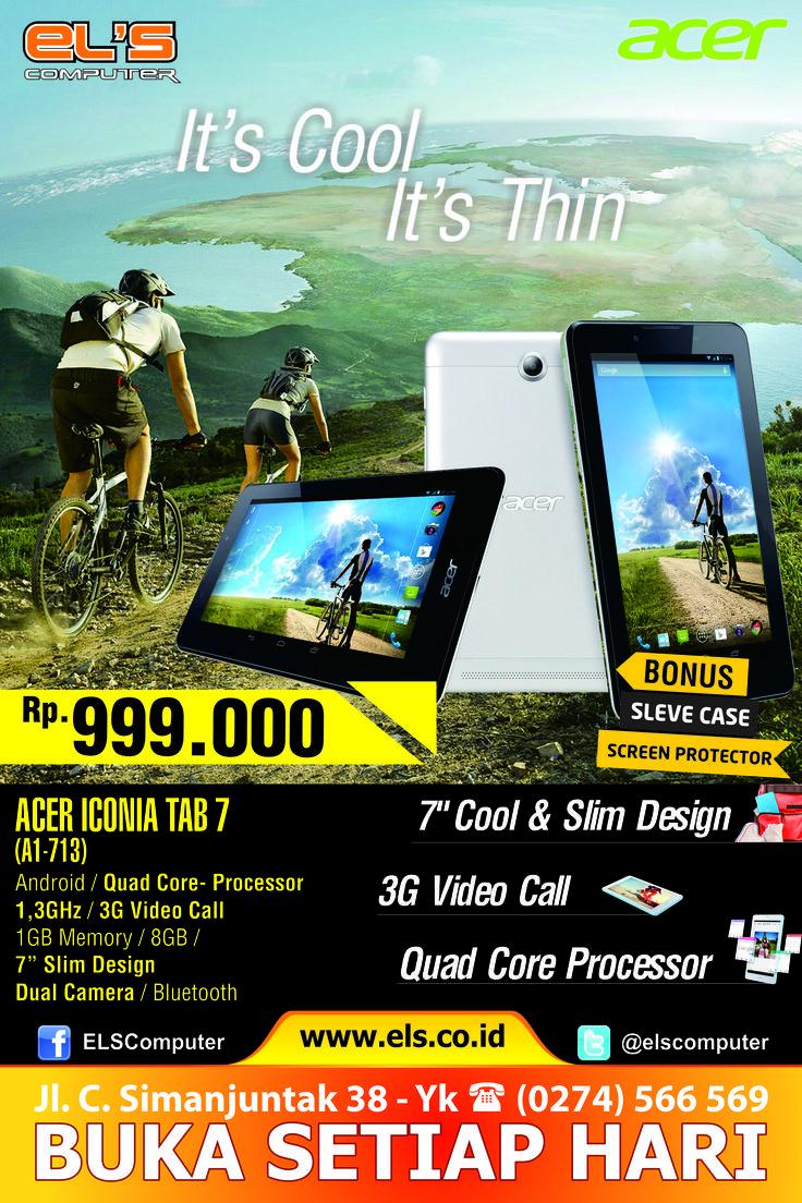 Tersedia Acer Iconia Tab 7 hanya di Els Computer, siap kirim ke seluruh Indonesia. via http://www.els.co.id/