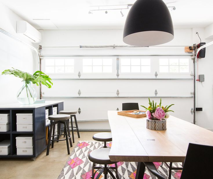 This HGTV Star Completely Transformed Her Garage Into An Effervescent Home  Design Studio