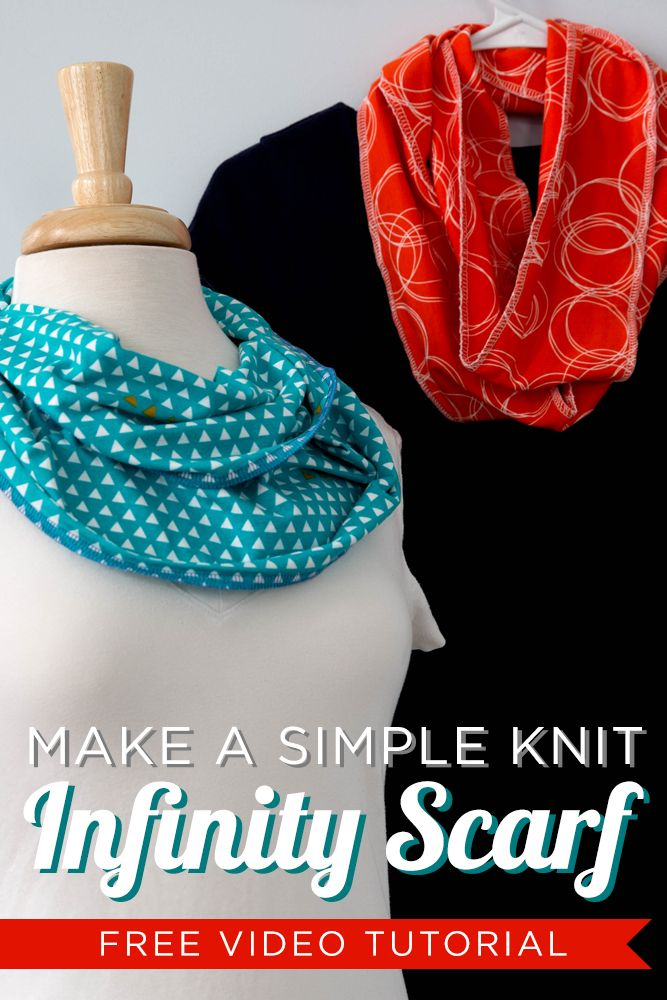 FREE Video tutorial for a stretch knit infinity scarf using your serger or overlock machine! Super quick and easy and whips up in a few minutes! By @CraftyGemini.
