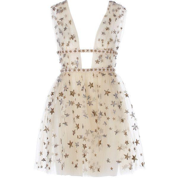 Valentino x goop Sleeveless tulle mini dress Goop ❤ liked on Polyvore featuring dresses, vestidos, short dresses, valentino, layered dress, pink dress, tulle ballerina dress and ballet dress
