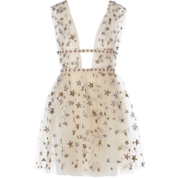 Valentino x goop Sleeveless tulle mini dress Goop ❤ liked on Polyvore featuring dresses, valentino, mini dress, ballerina dress, layered tulle dress, short pink dress and ballet dress