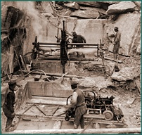 Working with soapstone before 1957. Picture from GTK.