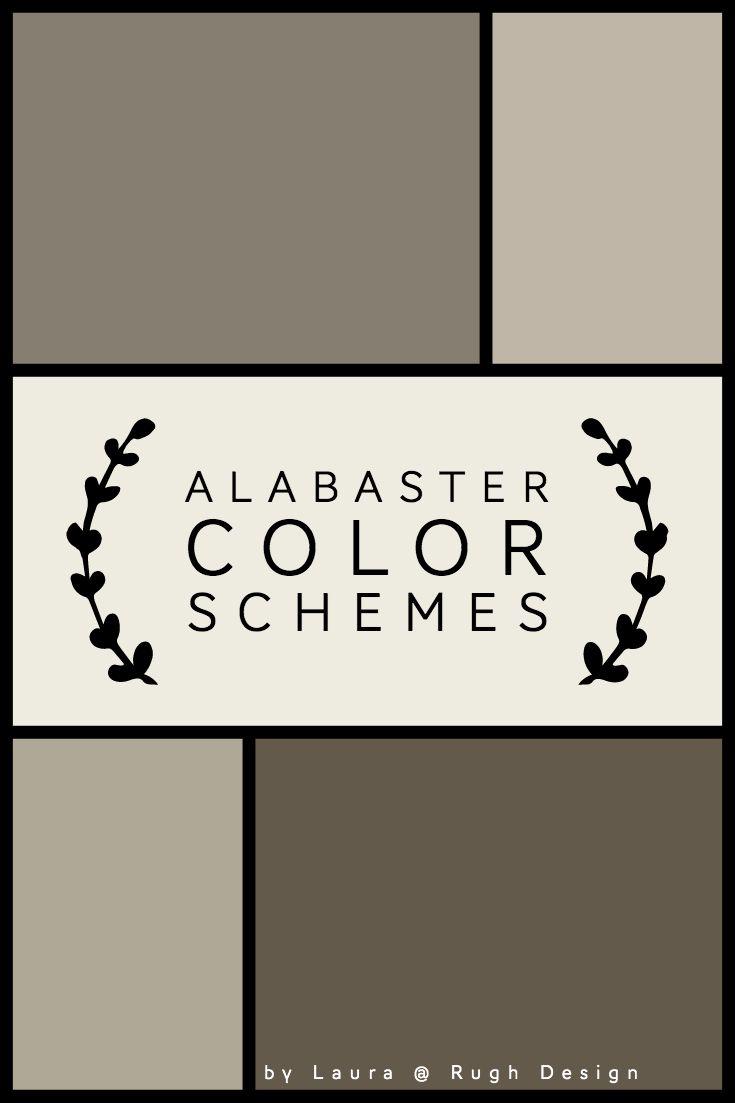 Color Scheme For Alabaster Sw 7008 In 2020 Alabaster Color