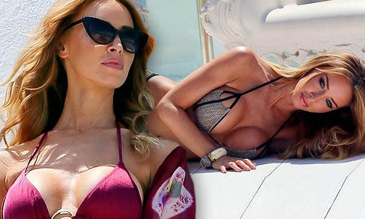Going back to her roots: Former Page 3 girl Lauren Pope takes time out of Ibiza partying for sexy bikini shoot