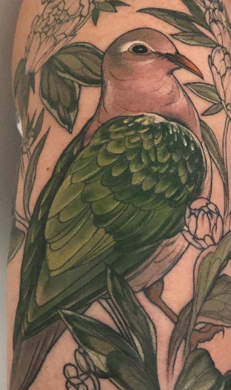 Second stage - the green bits. By Sophia Baughan. Emerald Dove, Peonies and Blackberries. Jan 2017.