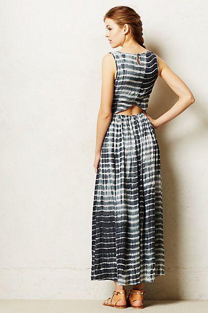 Shibori Maxi Dress - anthropologie.eu
