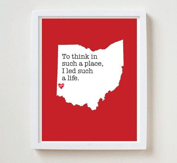 Oxford Ohio Print by EDGcolumbus on Etsy