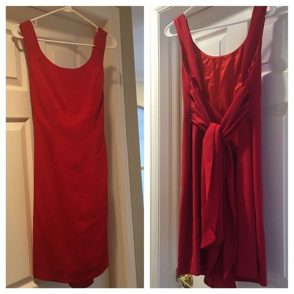 Red classy tie back dress Low back with tie. So beautiful! 8-10 size. Dresses