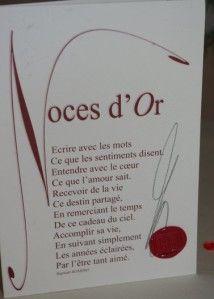50 ans d'Amour...   Carte anniversaire de mariage, Texte anniversaire de mariage et Anniversaire ...
