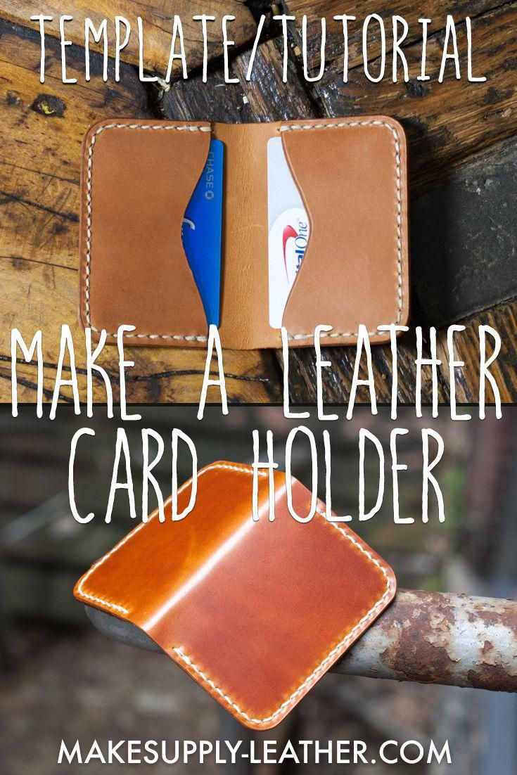 Want To Make A Hand Stitched Leather Card Holder Check Out Our Free Downloadable Templ In 2020 Diy Leather Card Holder Card Holder Leather Leather Card Holder Pattern