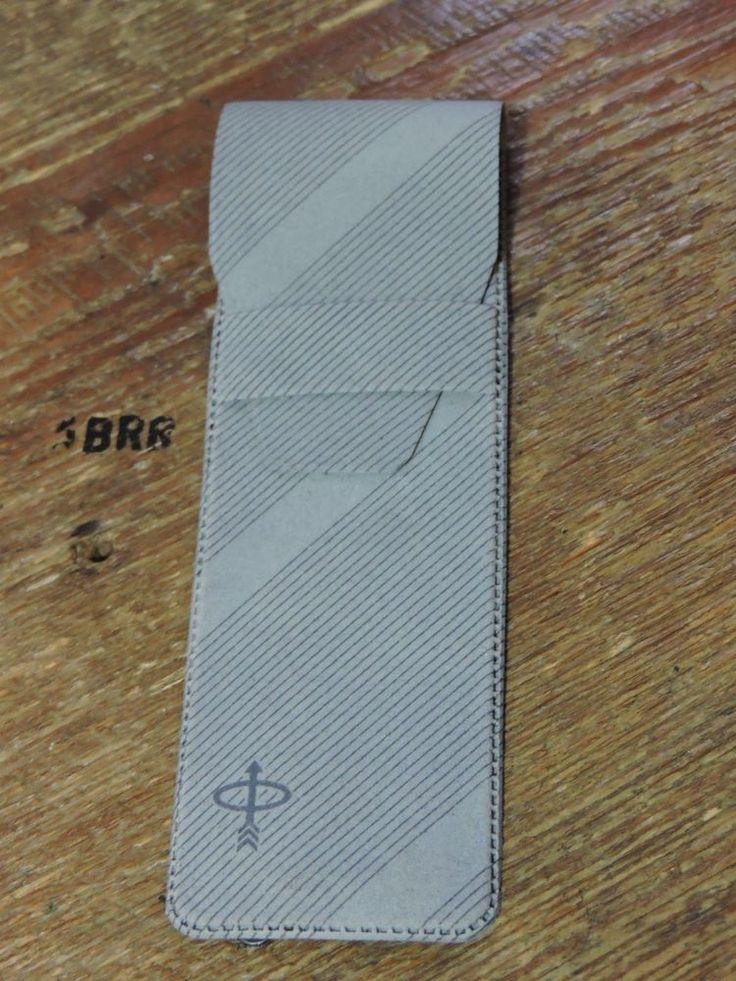 old vintage Lined Grey Parker Pen Travel Pocket Case USA With Parker Logo Front #Parker