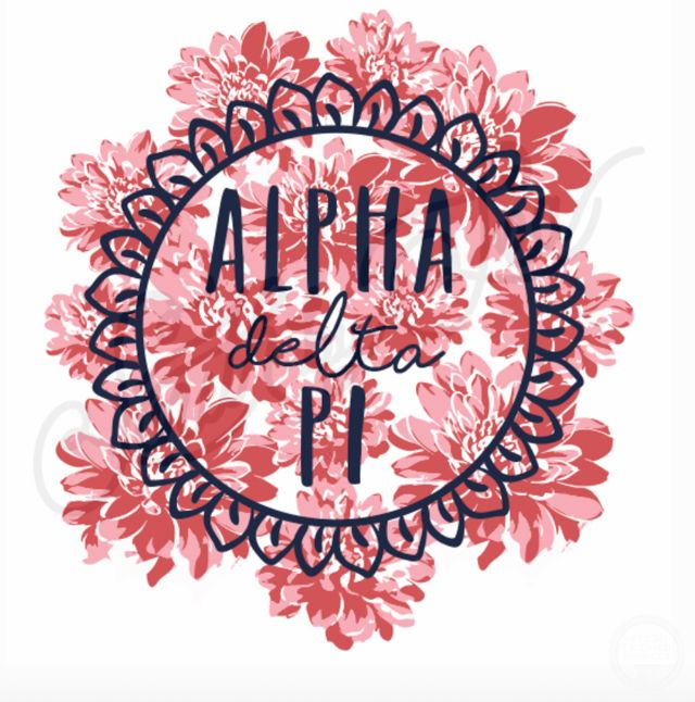 Alpha Delta Pi | ADPi | Floral Design | South by Sea | Greek Tee Shirts | Greek Tank Tops | Custom Apparel Design | Custom Greek Apparel | Sorority Tee Shirts | Sorority Tanks | Sorority Shirt Designs