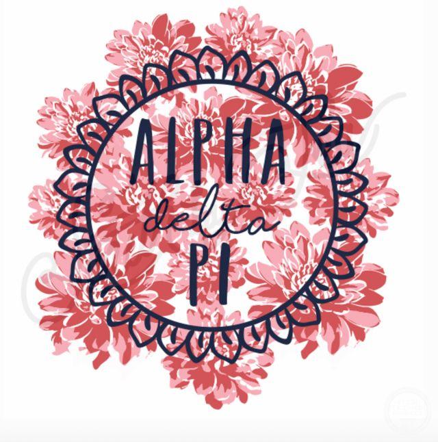 Alpha Delta Pi   ADPi   Floral Design   South by Sea   Greek Tee Shirts   Greek Tank Tops   Custom Apparel Design   Custom Greek Apparel   Sorority Tee Shirts   Sorority Tanks   Sorority Shirt Designs