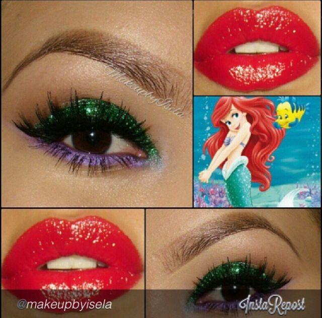Ariel inspired makeup