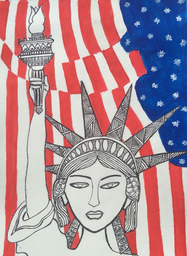 Statue of Liberty modern art touchup #mywork
