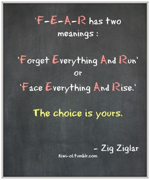 Fear as defined by Zig Ziglar. #wisdom