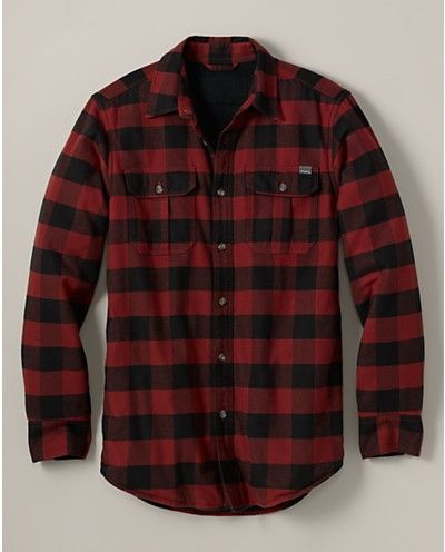 Relaxed Fit Fleece Lined Flannel Shirt Jacket Eddie