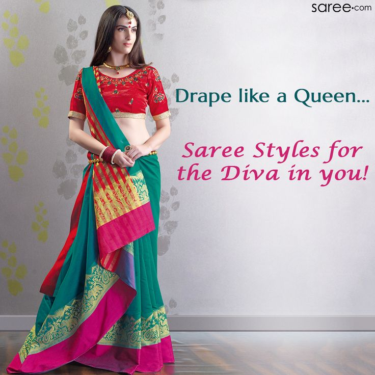Dare to drape your saree differently! Try innovative pallu and saree drapes for an unforgettable look... #Saree #Drapes #DrapingStyle #Sareedraps #ootdfashion #Sareedotcom #Sarees #Sareefashion #Sareelove #SareeSwag #sareeourpride #fashionista #Fashion