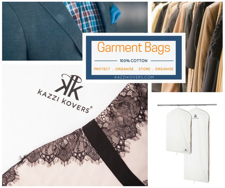 COATS | JACKETS | DRESSES .. Choosing the right type of garment bag will extend the life of your favourite pieces. Our premium 100% cotton garment bags protect from dust, dirt, moisture, mould and pesky insects all year round.