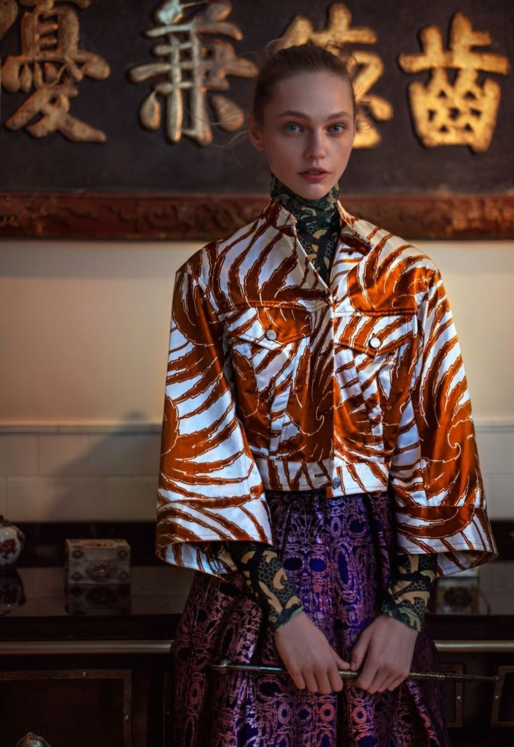 Photo de mode : Vogue China, février 2016, chinoiserie