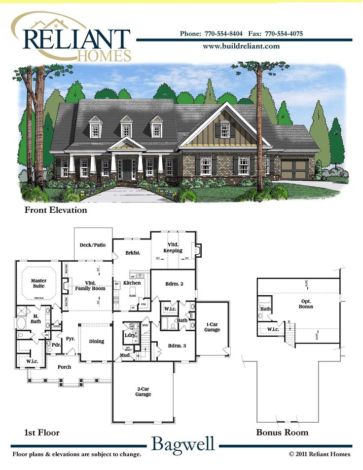 Reliant homes the bagwell plan floor plans homes for Reliant homes floor plans