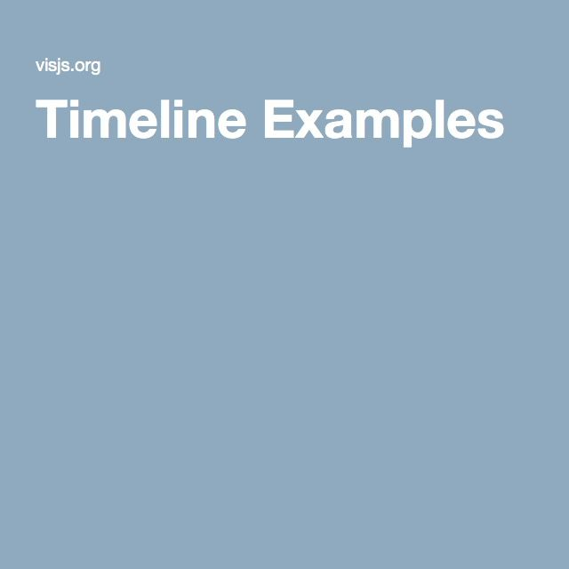 The  Best Timeline Example Ideas On   Timeline