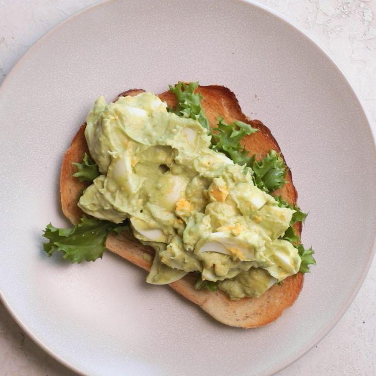 Avocado Egg Salad Vegetarian Sandwich Recipes Healthy Recipes Avocado Recipes