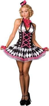 Adult Harlequin Honey Circus Clown Costume- Clearance Costumes- Womens Costumes- Halloween Costumes - Party City