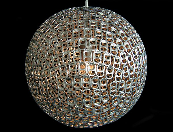 Mauricio Affonso's incredible Pop pendant lamp took the 3rd place Editor's Choice Award with its mod styling and expert craftsmanship. Composed of hundreds of soda can tabs.