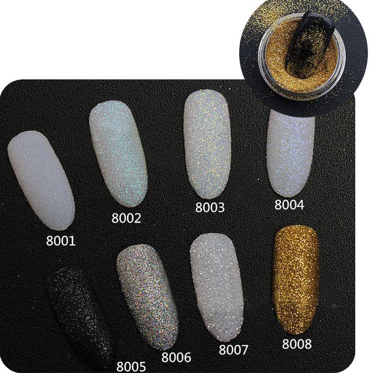 2g/Box Holographic Nail Glitter Powder Shining Sugar Nail Glitter Dust Powder Nail Art Decorations Set  [Affiliate]