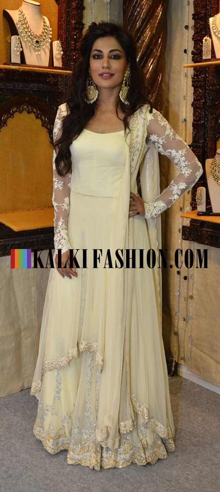 Chitrangda Singh inaugurated the Glamour Jewellery Store wearing a cream Neeta Lulla anarkali suit. http://www.kalkifashion.com/
