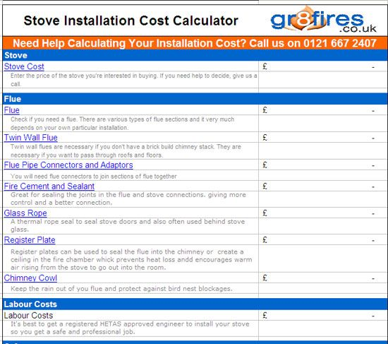 How much will it cost to install a woodburner in your home? Find out with this wood-burning stove installation calculator: http://blog.gr8fires.co.uk/2013/04/05/how-much-does-it-cost-to-install-a-wood-burning-stove/?utm_source=Social&utm_medium=Social