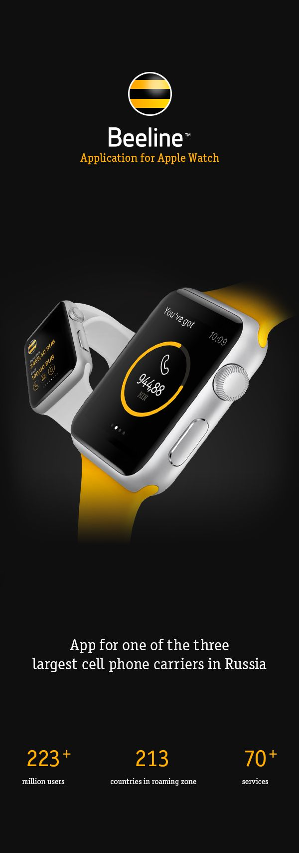 Beeline Apple Watch App on Behance
