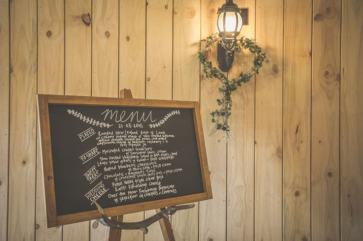 Menu Board in the Functions room of the Orlando Country Club