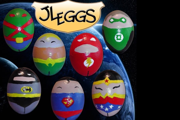 JLA eggs SRSLY!!! But can you convert the graphics to fit apron construction? That'd be way cool