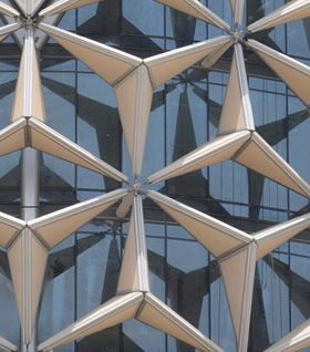 Al Bahr Towers in Abu Dhabi - Kinetic façade components - CTBUH - January 2013