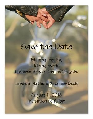 Biker Love - Save the Date Announcements by Invitation Consultants. (IC-CC-NQ98LE-93 )