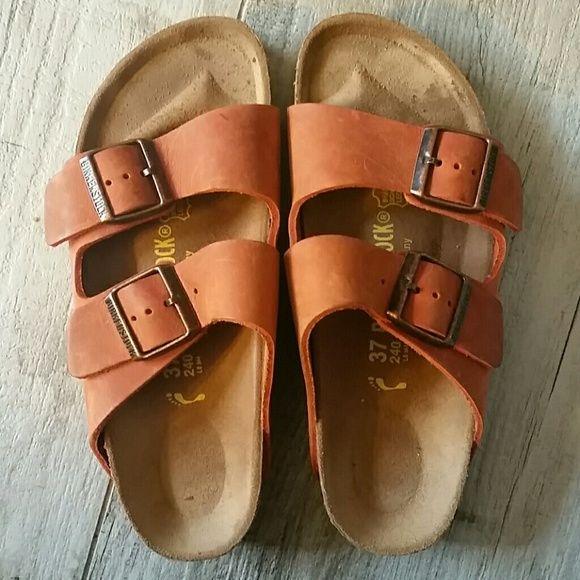 Birkenstocks 37 Like new. Dull orange color. birkenstock Shoes Sandals
