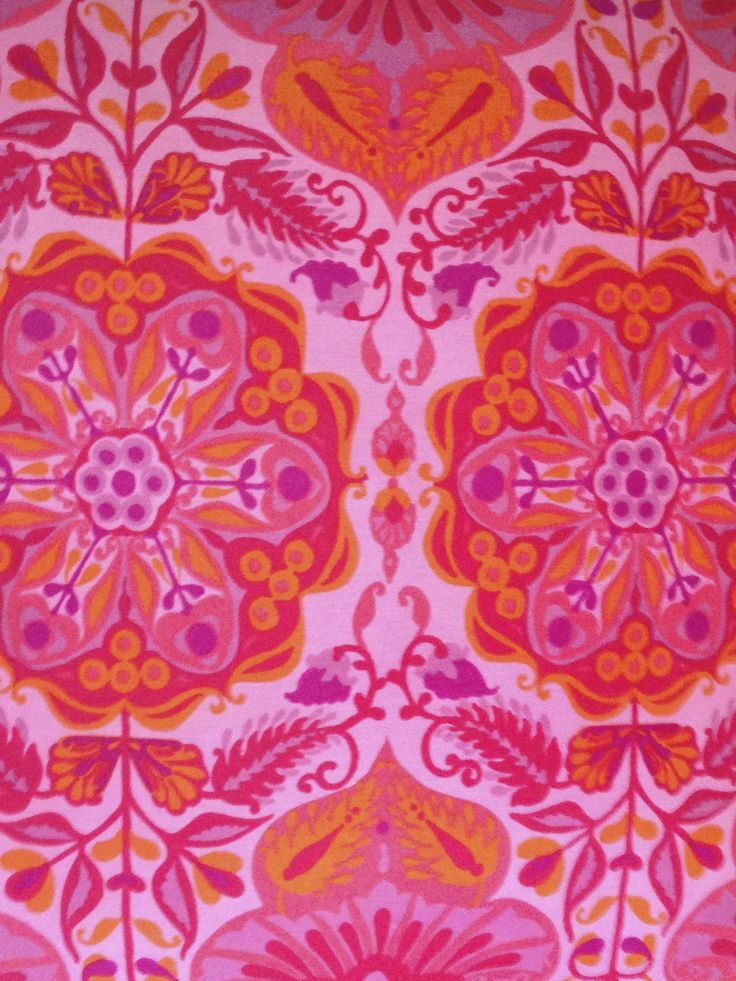 Vintage Jonelle fabric 'Marrakesh' Red Pink - giant floor cushion
